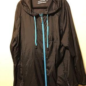 Men's rain jacket ultra thin with hood